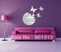 [Free Shipping]  DIY decoration acrylic mirror sticker flying butterflies