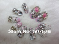 Fashion Brand !!   24pcs/set    Finished Full Cover  Metal  Gradient  Color  Nails  ART Tips  Free shipping