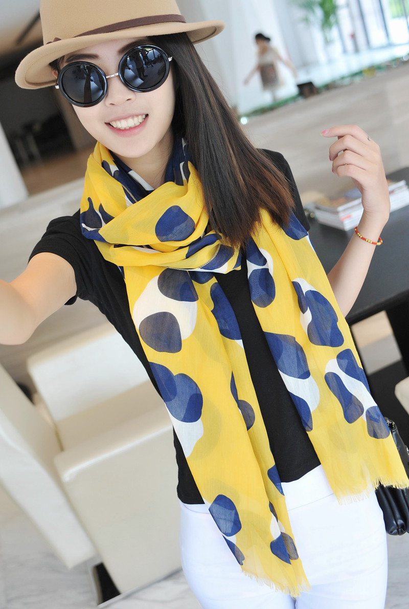 Ultra soft flash decoration yellow scarf cape dual female(China (Mainland))