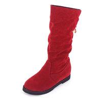 Women's shoes platform elevator platform wool boots martin boots nubuck leather boots high-leg