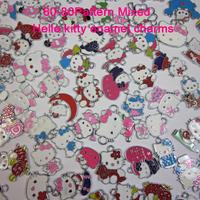 60-80pattern  Mixed 30pcs Hello Kitty zinc alloy enamel charms pendants