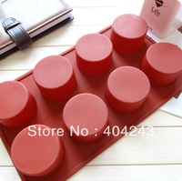 Cylindrical round soap molds silicon mold Chocolate cake mould silicone baking mold