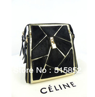 LIHONN lock bag fall 2013 new horsehair messenger shoulder bag women's handbags  female hand his female bag black tg0928