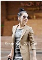 2013 fashion cardigan one button women's slim small suit jacket/female slim blazer short jacket / linen blazer/ladies coat