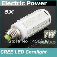 7W warm white/white led lighting AC 220-240V 108 LED E27 led bulb lamp Corn Light Bulb free shipping