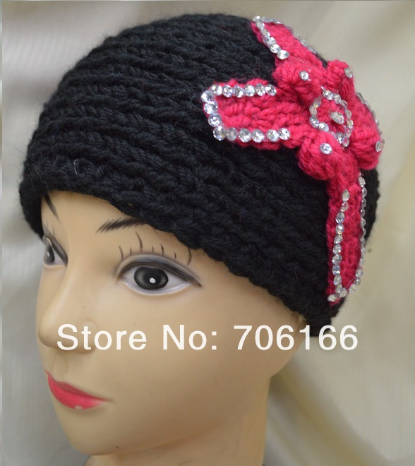 New product,Women knitted crochet headband,handmade Diamond cross headwear, / can mix color +CPAM Free Shipping(China (Mainland))