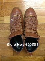 2013 New High Top Men's Sneakers Men Fashion Ankle boots Arena Brown Sneakers Brand Trainers Kanye West footwear