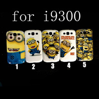 Free shipping 1pcs for Samsung Galaxy S3 III New fashion MID super milk dad Despicable Me Hard Case