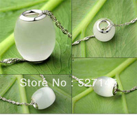 Free Shipping 1Pc 925 Sterling Silver Core Cat Eye Stone Bead Pendant 1.4x1.1cm