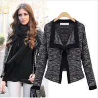 Fashion 2013 Autumn Female High Quality Linen Long-sleeve Cardigan Overcoat for Sweet girl Free shipping