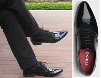 Men's oxfords genuine leather formal shoes business black shoes size 40/41/42/43 TIDING 150-7
