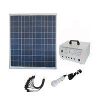 300W solar portable system with 300W pure sine wave inverter output,dc12v 3w bulbs 1pcs.high quality,Solar power Off Grid System
