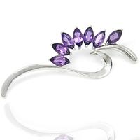 Semi-precious Stone Natural amethyst Peridot brooch vintage Phoenix 925 sterling silver jewelry female sh0002a