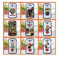 free shipping10pcs/lot  Hot Cartoon Cute Despicable Me 2 Minions TPU Silicone Back Case For Samsung Galaxy S3 9300