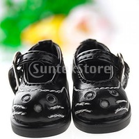 Free Shipping 1/6 BJD Doll Shoes Boots Cat Pattern Fit Yo-SD DOD LUTS - Black