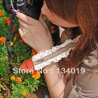 Small fresh lace tightly woven straps, Sen female wind SLR camera strap