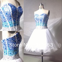 Free shipping Hot sale A Line Sweetheart Knee length Sequin and Beaded tulle Best Selling Party gown short Prom Dresses