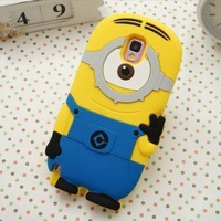 1pc Free Shipping 3D Cute Silicon Despicable Me2 Minions Soft Case Skin for Samsung Galaxy Note3 N9000