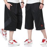 Free Shipping Ultralarge Basketball Shorts Summer Basketball Hiphop Capris Plus Size Sports Shorts Capris Bermuda Basquete