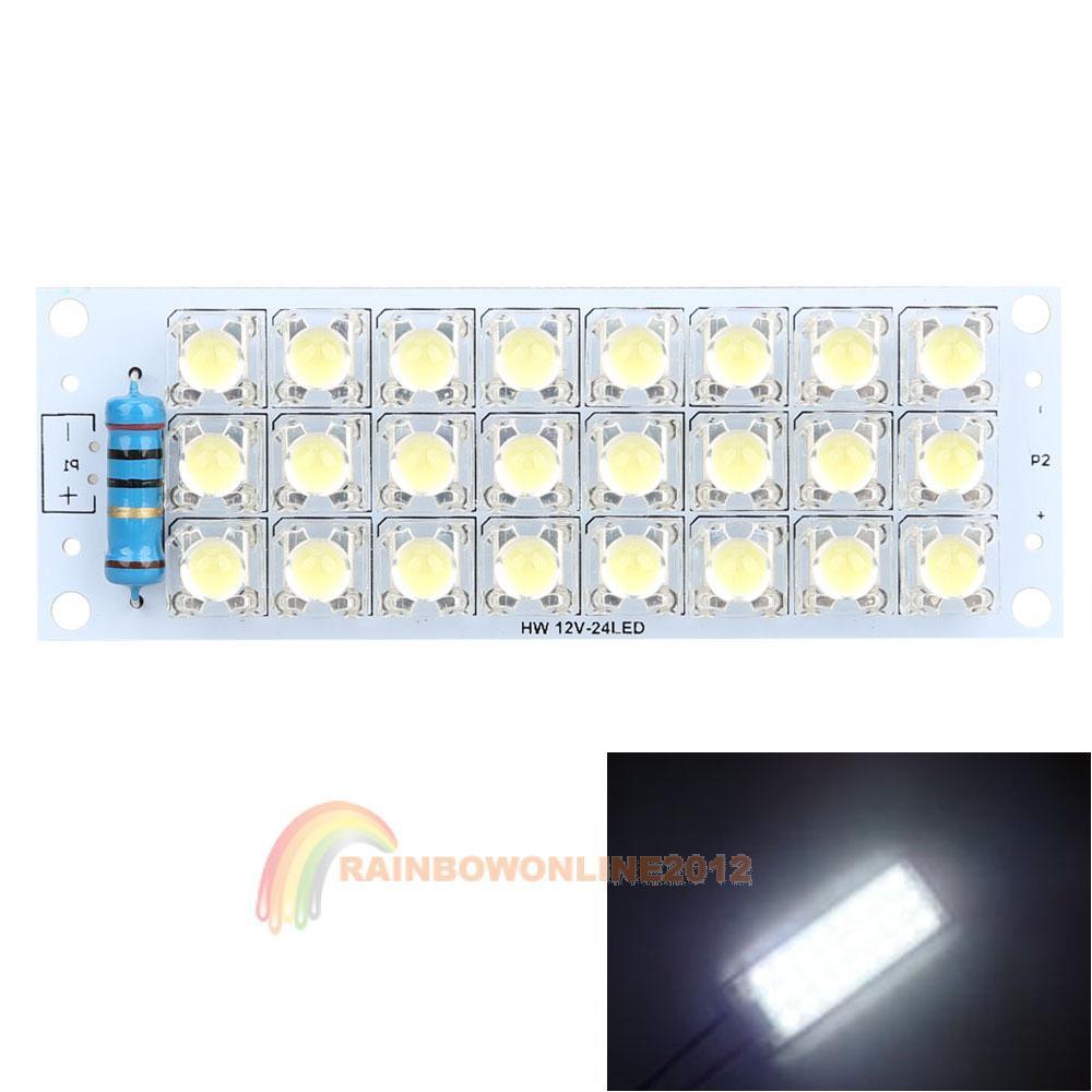 Super Bright R1B1 Best 12V White Piranha 24 LED Panel Board Light Energy Saving Lamp(China (Mainland))