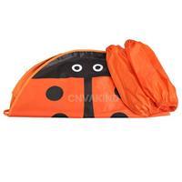 #Cu3 Kids Cartoon Ladybug Apron Waterproof Pinafore with Oversleeves Orange