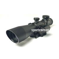 3-9x42EG Hunting Rifle Scope Red Green Dot Illuminated Telescopic Sight Riflescope w/ Tactical Red Laser Scope Sight free ship