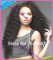 2013 New Fashion 4*4Silk Top Full Lace Wigs 100% Unprocessed Virgin Brazilian Human Hair Curly Glueless Wig Free Shipping