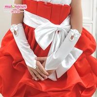 Female child flower girl formal dress child wedding formal dress princess dress costume accessories gloves st01