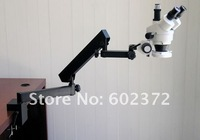 FREE SHIPPING ! 7X-45X STEREO ZOOM MICROSCOPE +ARTICULATING CLAMP STAND +3.0M USB CAMERA