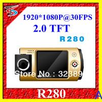 Free Shipping R280 Full HD 1920x1080p 30FPS Car Cam 2.0 TFT LCD130 Degree Wide Angle HDMI Output+Russian Language+Retali Box