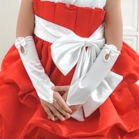 Controversial child formal dress princess flower girl dress formal dress accessories long fingerless gloves finger st01