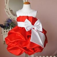 Controversial child dress formal dress princess flower girl dress skirt short red dress design x70