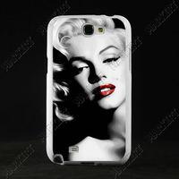 TPU+PC Customized Designer Case hard back cover for Samsung Galaxy Note 2 II N7100 Marilyn Monroe ZC0373 Celebrity Free ship
