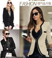 2014 Autumn Women's Blazers On Sale! Bandage Ladies Suits Clothing Solid Korean Style Fashion Jackets Wholesale Price Coats