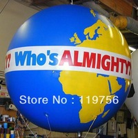 Free shipping !!! 2mD inflatable advertising helium balloon , Earth Balloon