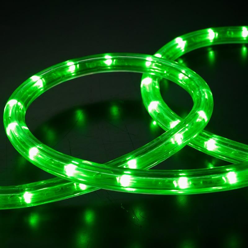 100m 13mm green led rope light christmas lighting holiday lighting