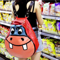 2013 hippopotami bag cartoon casual student school bag backpack women's handbag