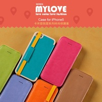 For Apple iPhone 5 5S Kalaideng My Love Series Handheld Flip Leather Case For Apple iPhone 5 5S Leather Case Free Shipping