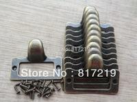 ANTIQUE FINGER LABEL FRAME CARD HOLDER PULL HANDLE FOR CABINETS DRAWERS BOX  BIN FURNITURE ETC. Size SMALL. 48MM*36MM. SKU1