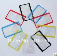 wholesale 50pcs/lot  retail gift Ultra thin Credit 3X Card magnifier - read reading bookmark Big magnifying  + tracking number