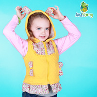 4 2013 autumn and winter new arrival Child polar fleece fabric thickening female child vest