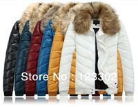 Free shipping Men's coat Winter overcoat Outwear Winter jacket Men's cotton-padded clothes wholesale Size M-XXL 6 Colors S0037