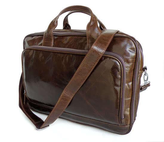Free Shipping Fashion High Quality JMD Men Vintage Genuine Leather Portfolio Briefcase Business Bag Handbag Message Bag #6086(China (Mainland))