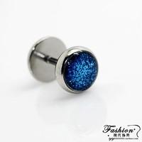Multicolor circle fashion titanium stud earring medical steel stud earring