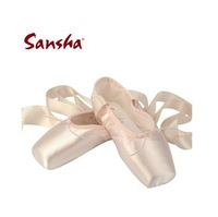 Discount! Sansha princess pink satin dance pointe shoes women's ballet toe shoes flats free shipping