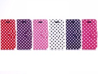 Polka Dot Folding Synthetic Leather Stand Case for Apple iPhone 5C