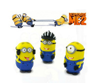 Despicable Me 3D Eye Minions Figure PVC figure for the children Free Shipping