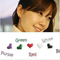 0111 popular accessories small classic oil love heart stud earring