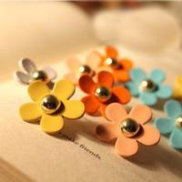 0272 accessories sweet rivet little daisy flower female stud earring multi-color earring
