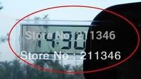 NEW  Auto Car Suckedtype LCD Screen Digital time Clock